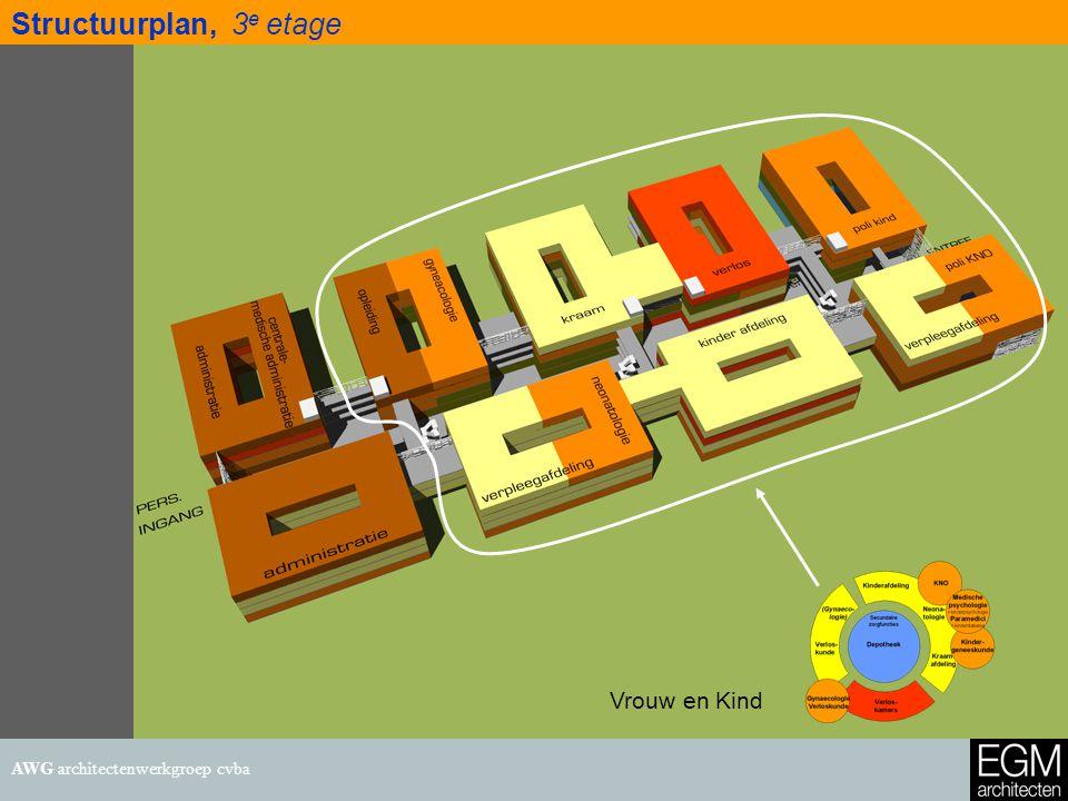 25 september 200714 Structuurplan, 3 e etage AWG architectenwerkgroep cvba Vrouw en Kind