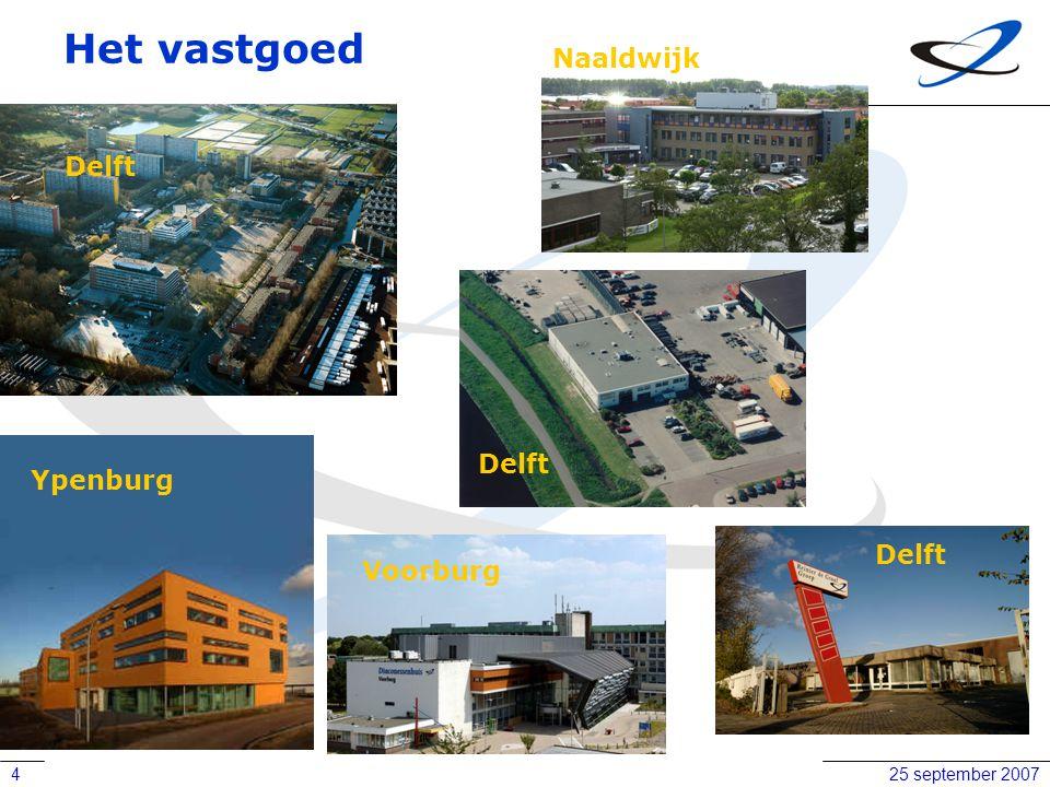 25 september 20074 Het vastgoed Ypenburg Voorburg Naaldwijk Delft