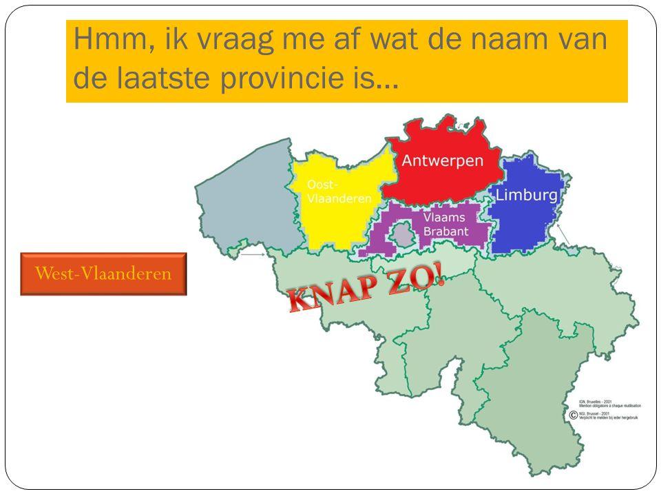West-Vlaanderen Hmm, ik vraag me af wat de naam van de laatste provincie is…
