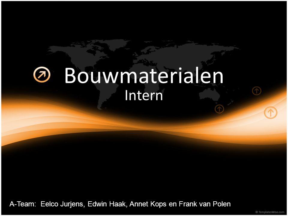 Bouwmaterialen Intern A-Team: Eelco Jurjens, Edwin Haak, Annet Kops en Frank van Polen
