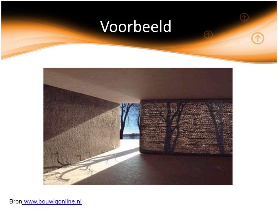 Voorbeeld Bron www.bouwiqonline.nl www.bouwiqonline.nl