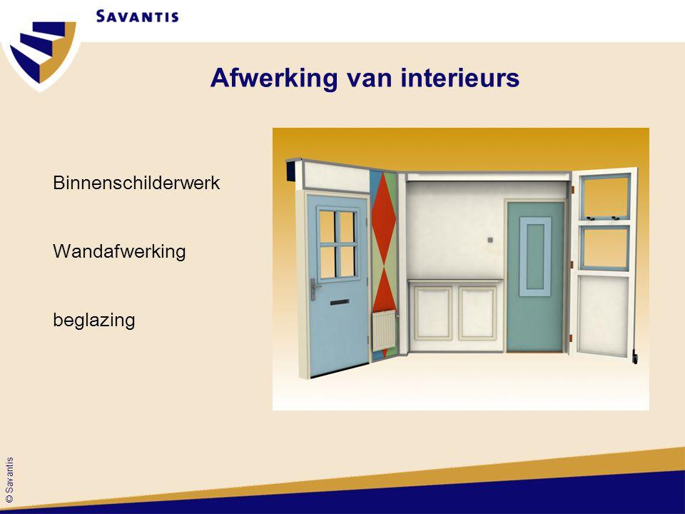 © Savantis Afwerking van interieurs Binnenschilderwerk Wandafwerking beglazing