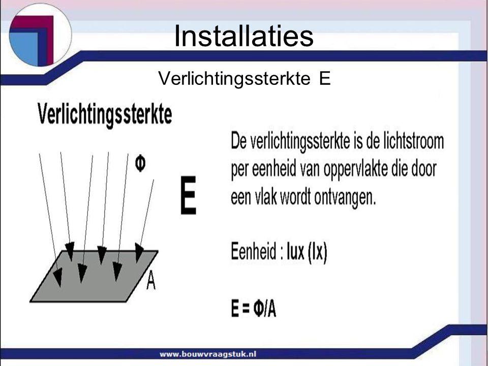 Verlichtingssterkte E Installaties