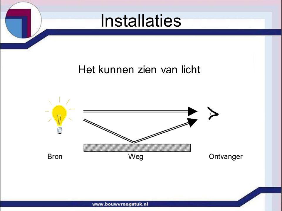 Het kunnen zien van licht Installaties