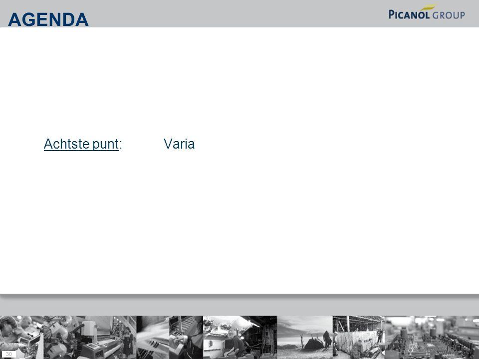 30 Achtste punt: Varia AGENDA