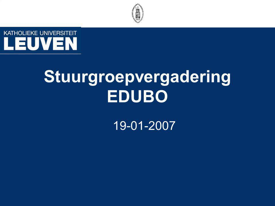 Stuurgroepvergadering EDUBO 19-01-2007