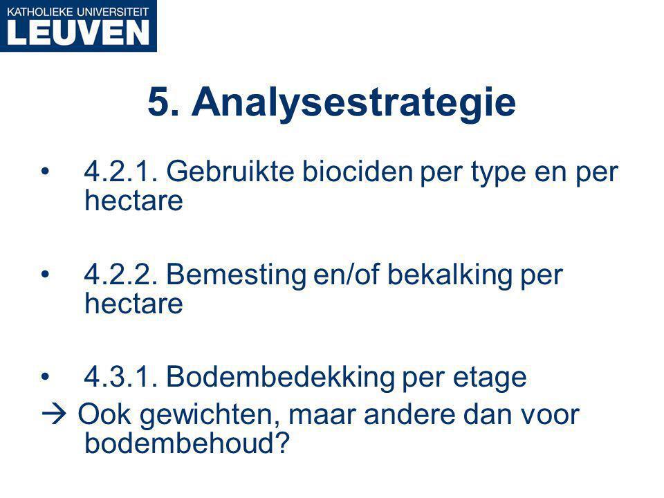 4.2.1. Gebruikte biociden per type en per hectare 4.2.2.
