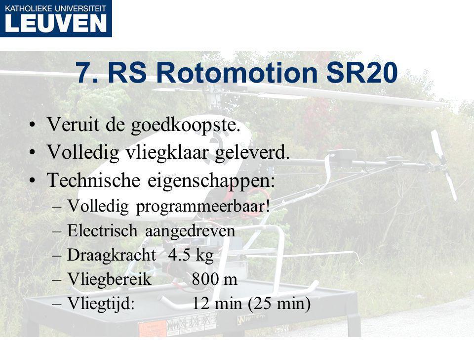 7. RS Rotomotion SR20 Veruit de goedkoopste. Volledig vliegklaar geleverd.