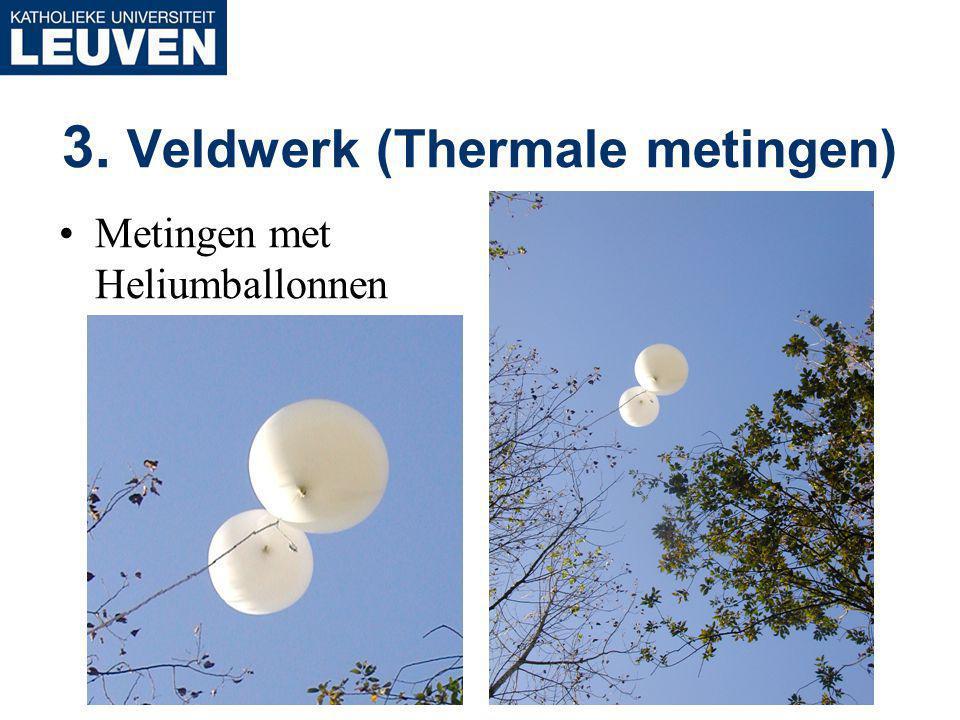 3. Veldwerk (Thermale metingen) Metingen met Heliumballonnen