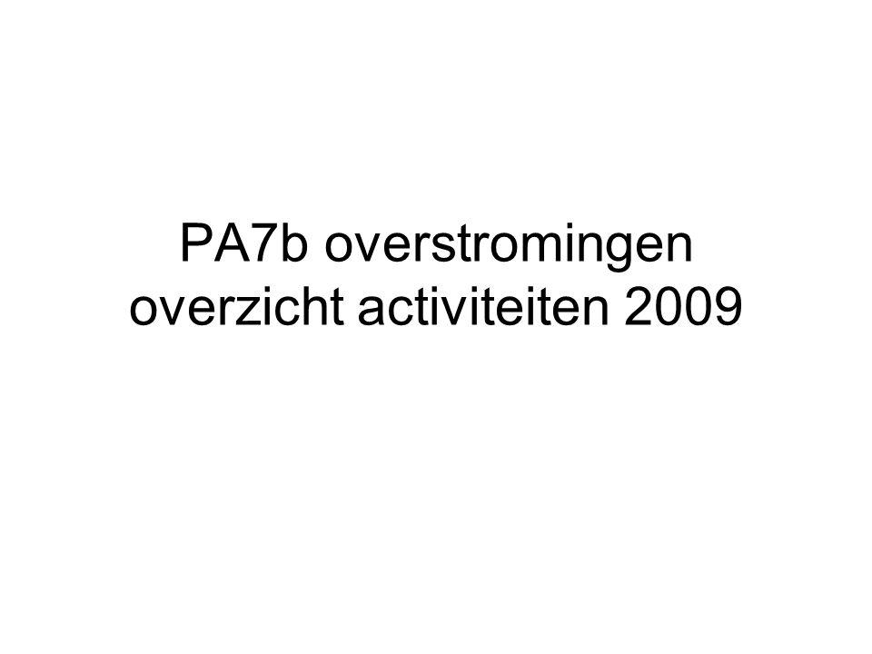 PA7b overstromingen overzicht activiteiten 2009