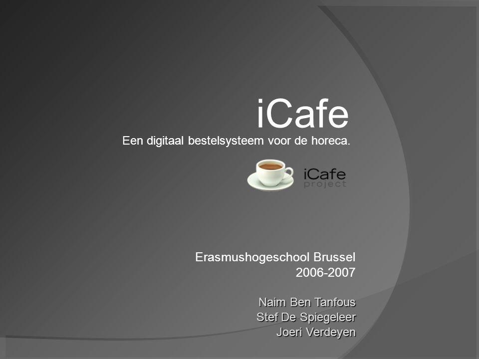 Overzicht presentatie  Wat is iCafe ontstaan concept voordelen werking droom