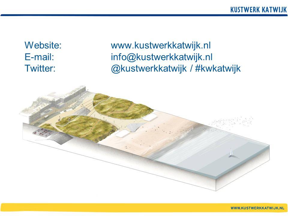 Website: www.kustwerkkatwijk.nl E-mail:info@kustwerkkatwijk.nl Twitter: @kustwerkkatwijk / #kwkatwijk