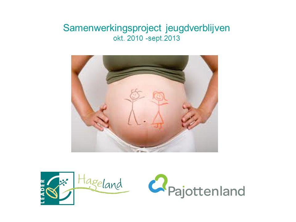 Samenwerkingsproject jeugdverblijven okt. 2010 -sept.2013