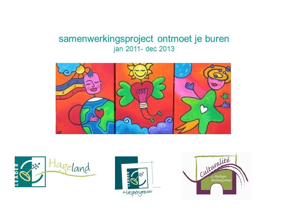 samenwerkingsproject ontmoet je buren jan 2011- dec 2013