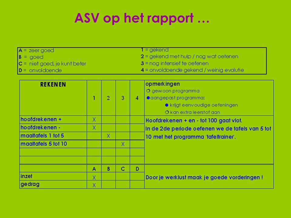 BGV op het rapport …