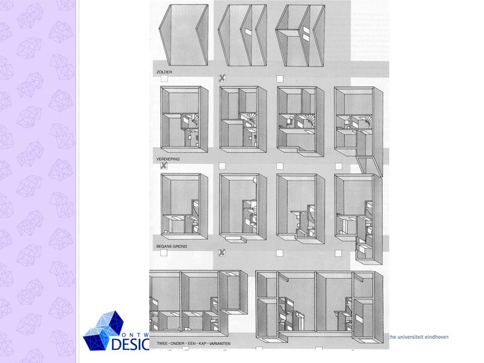 Het is duidelijk dat het Interbuilt-bouwsysteem de mogelijkheid biedt om allerlei varianten van Meerkeuzewonigen te genereren inclusief varianten van de verschillende verdiepingen (begane grond, verdieping, zolder).
