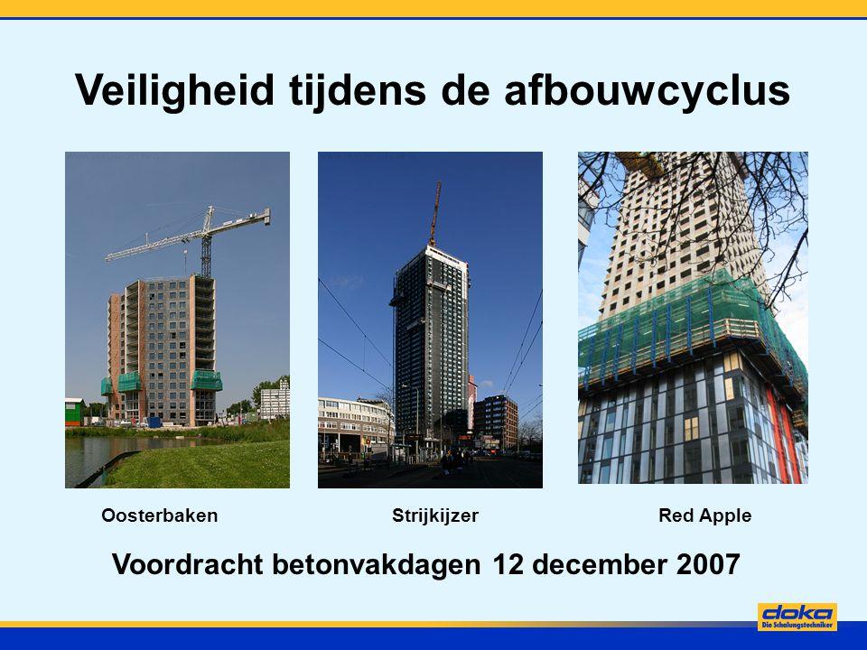 Veiligheid tijdens de afbouwcyclus Voordracht betonvakdagen 12 december 2007 Oosterbaken Strijkijzer Red Apple
