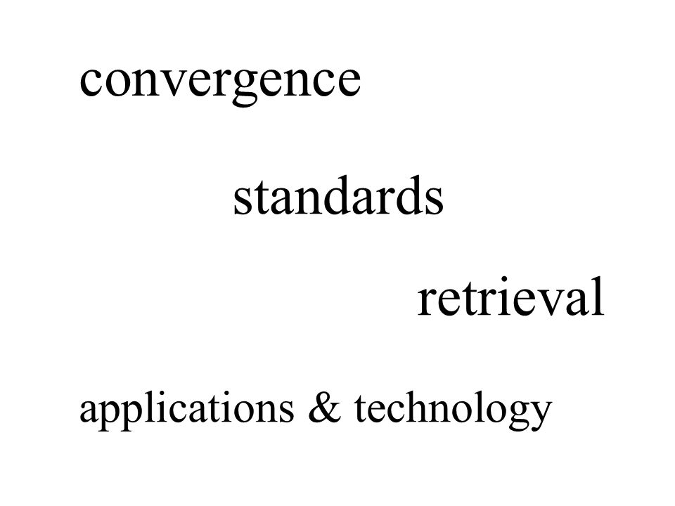 convergence standards retrieval applications & technology