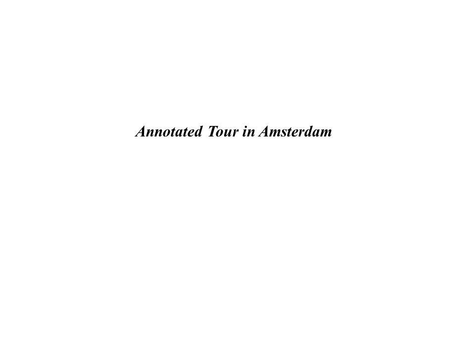 Aan de hand van een routebeschrijving door Amsterdam dient een presentatie gemaakt te worden waarbij informatie aangeboden wordt over de locaties die zich op die route bevinden.