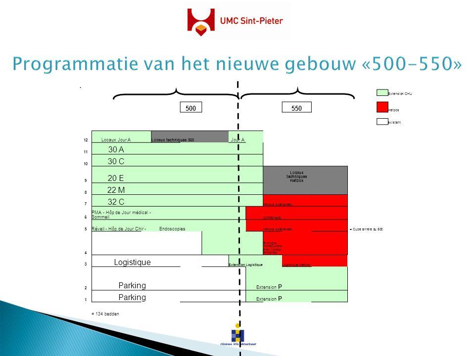. Extension CHU 500550 Hetbos existant 12 Locaux Jour A Locaux techniques 500 Jour A 11 30 A 10 30 C 9 20 E Locaux techniques Hetbos 8 22 M 7 32 C Het