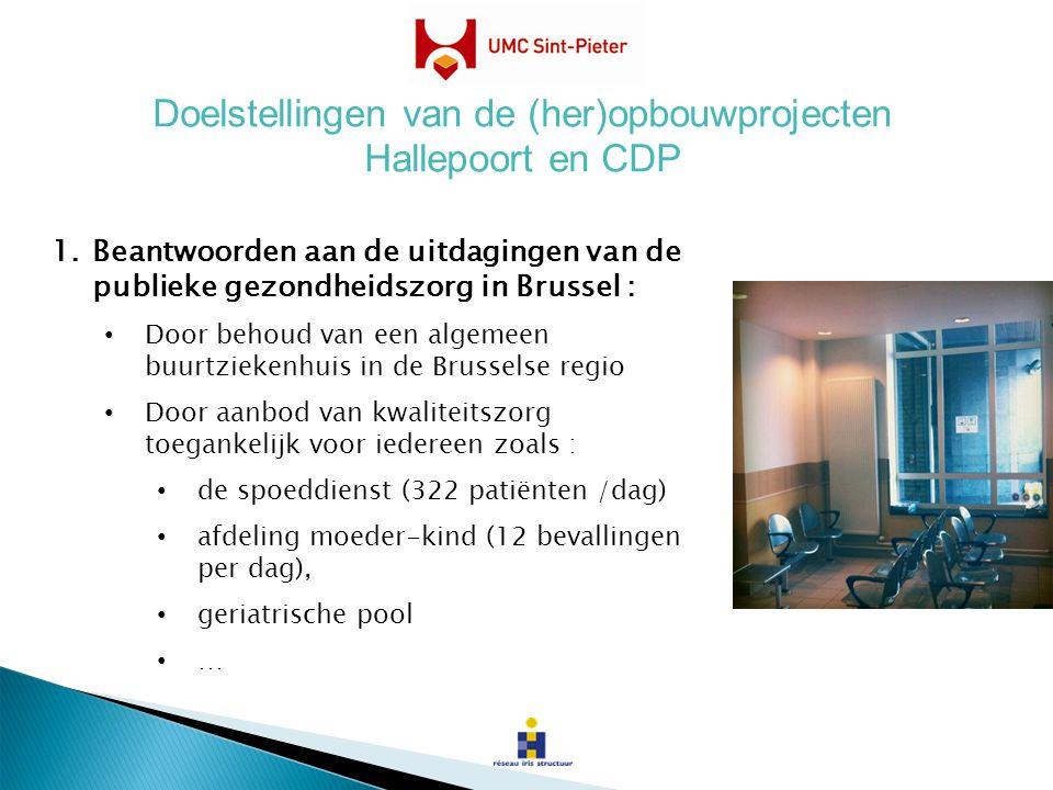 1.Beantwoorden aan de uitdagingen van de publieke gezondheidszorg in Brussel : Door behoud van een algemeen buurtziekenhuis in de Brusselse regio Door
