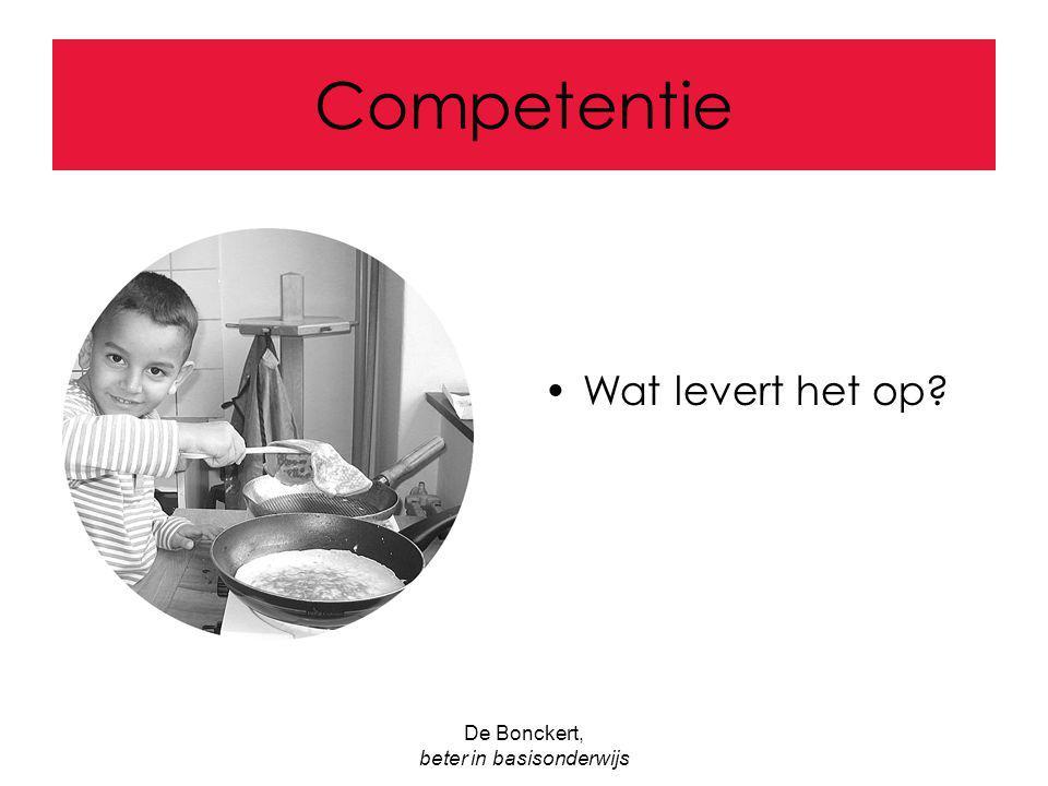 De Bonckert, beter in basisonderwijs Competentie Wat levert het op?