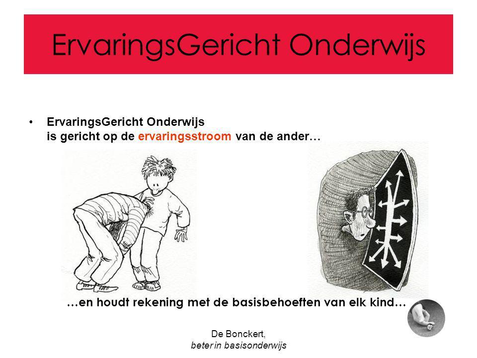 De Bonckert, beter in basisonderwijs ErvaringsGericht Onderwijs E.G.O.
