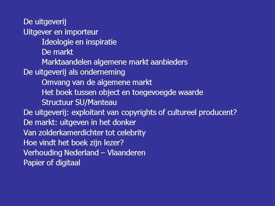 De uitgeverij Auteur Verkoop/Marketing Markt Uitgeverij Missie van Standaard Uitgeverij/Manteau: Het creëren en aanbieden van zingeving, inspiratie, en verstrooiing als eerste partner voor auteurs, retail en lezers in het Nederlands taalgebied.