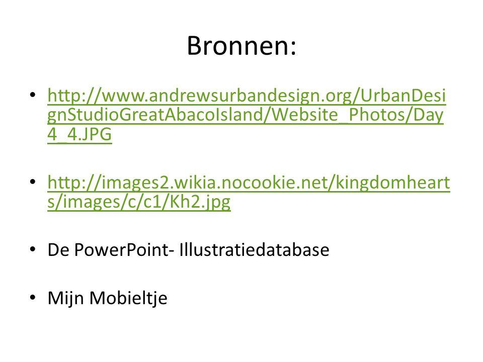 Bronnen: http://www.andrewsurbandesign.org/UrbanDesi gnStudioGreatAbacoIsland/Website_Photos/Day 4_4.JPG http://www.andrewsurbandesign.org/UrbanDesi g