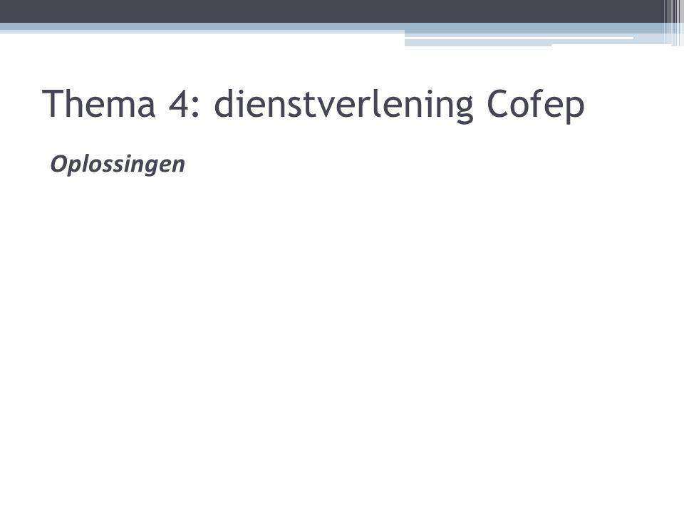 Thema 4: dienstverlening Cofep Oplossingen
