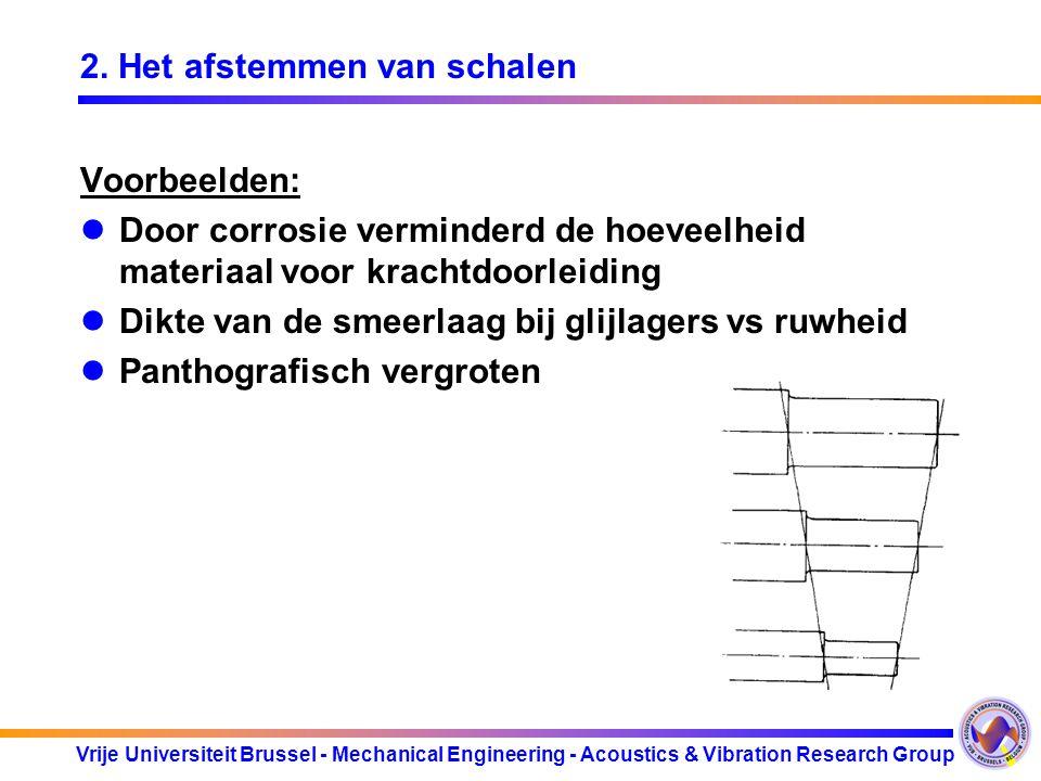 Vrije Universiteit Brussel - Mechanical Engineering - Acoustics & Vibration Research Group 2. Het afstemmen van schalen Voorbeelden: Door corrosie ver