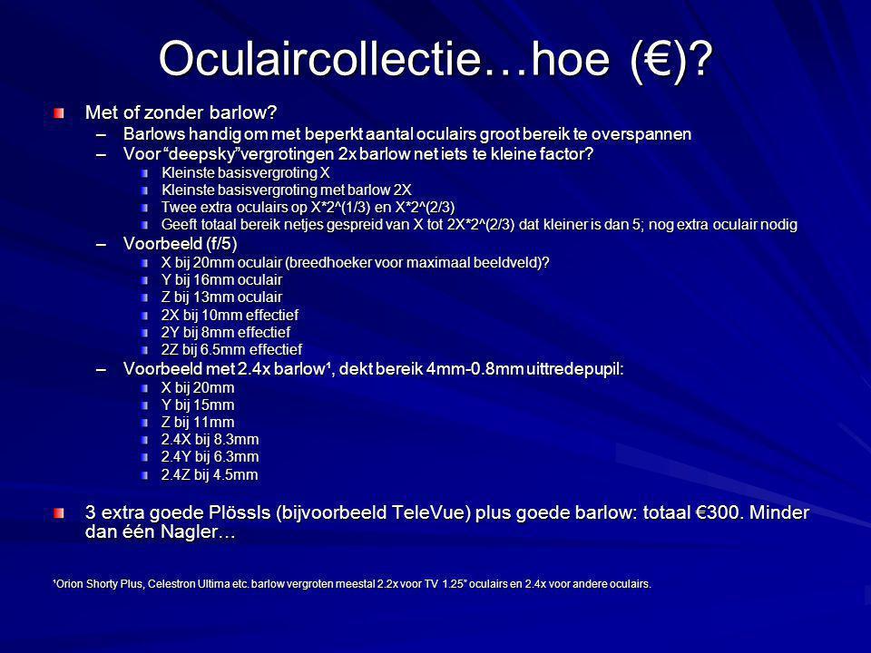 Oculaircollectie…hoe (€).Met of zonder barlow.
