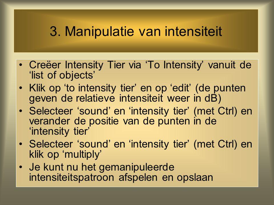 2. Manipulatie van duur