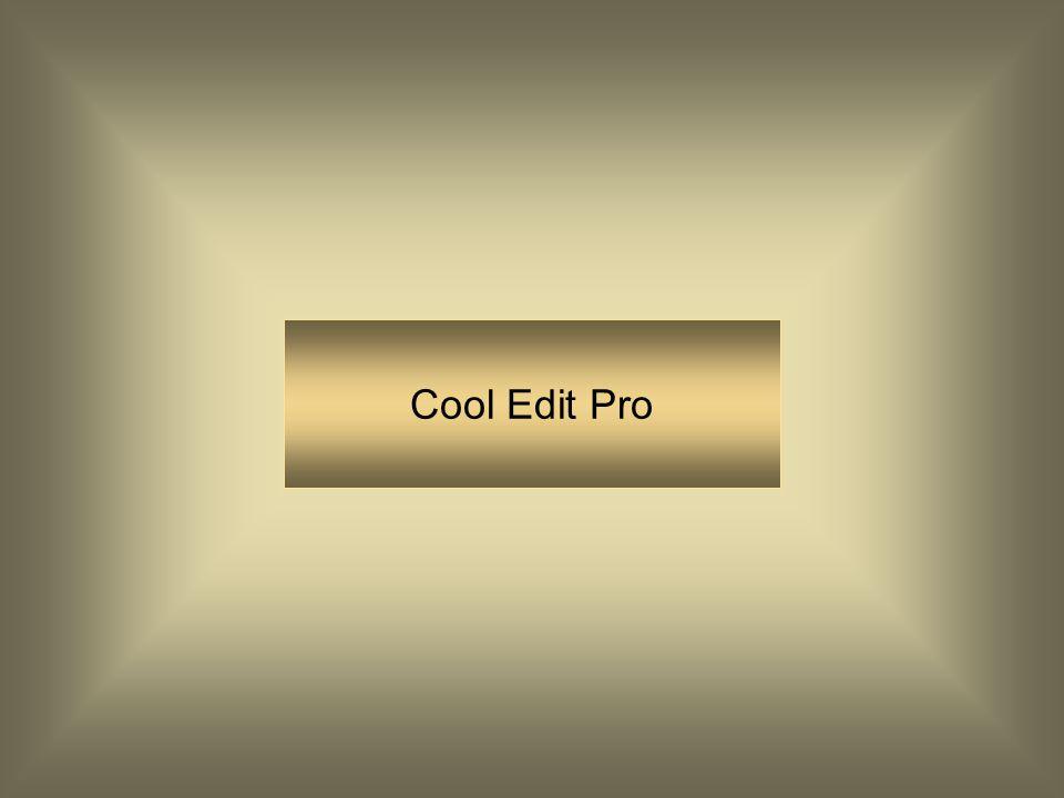 PRAAT : Cool Edit Cool Edit is met name geschikt om goede opnames te maken en deze te masteren PRAAT is met name geschikt om fonetisch onderzoek mee u