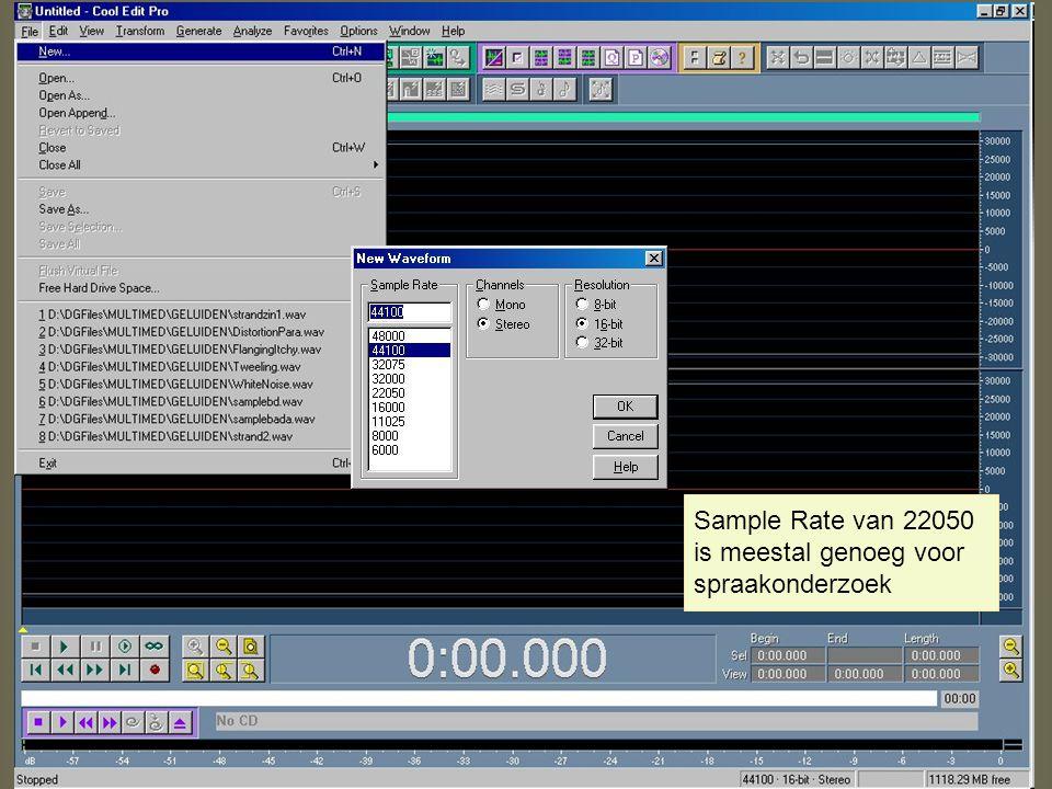 Hersynthese Een gemanipuleerd geluid kun je vanuit het Edit-venster in de 'list of objects' opnemen als sound via 'file' en 'publish resynthesis' m.b.v.