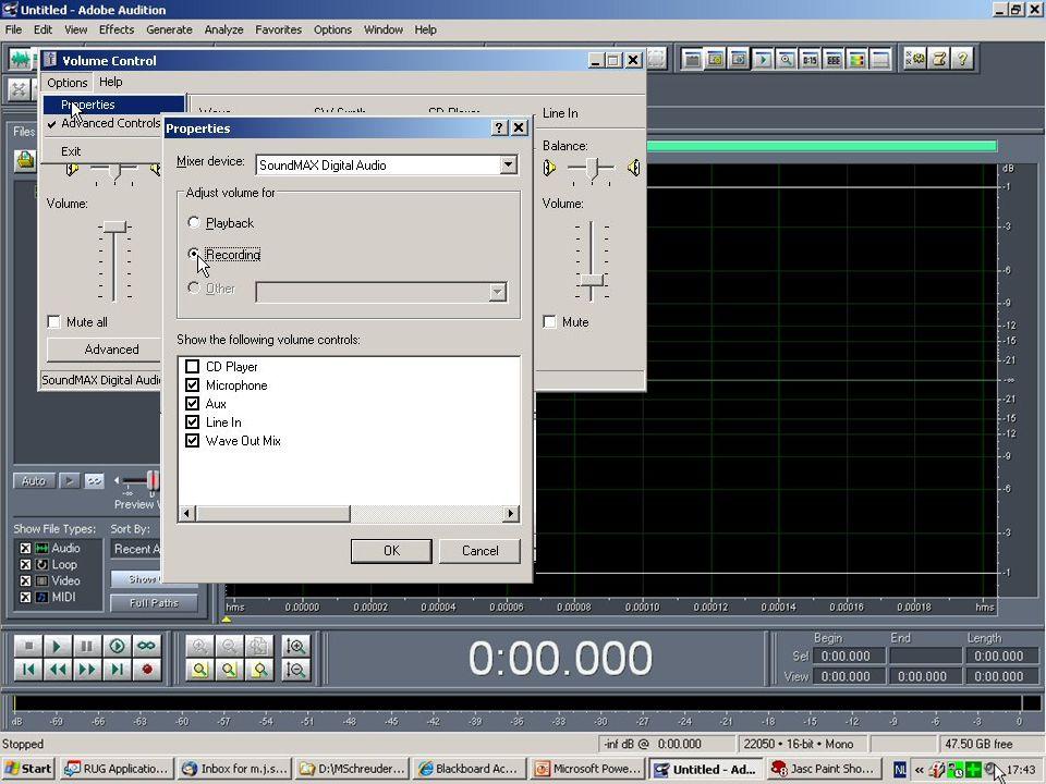 CoolEdit biedt onder Transform: Noise reduction mogelijkheden om clicks, hiss, noise, etc.