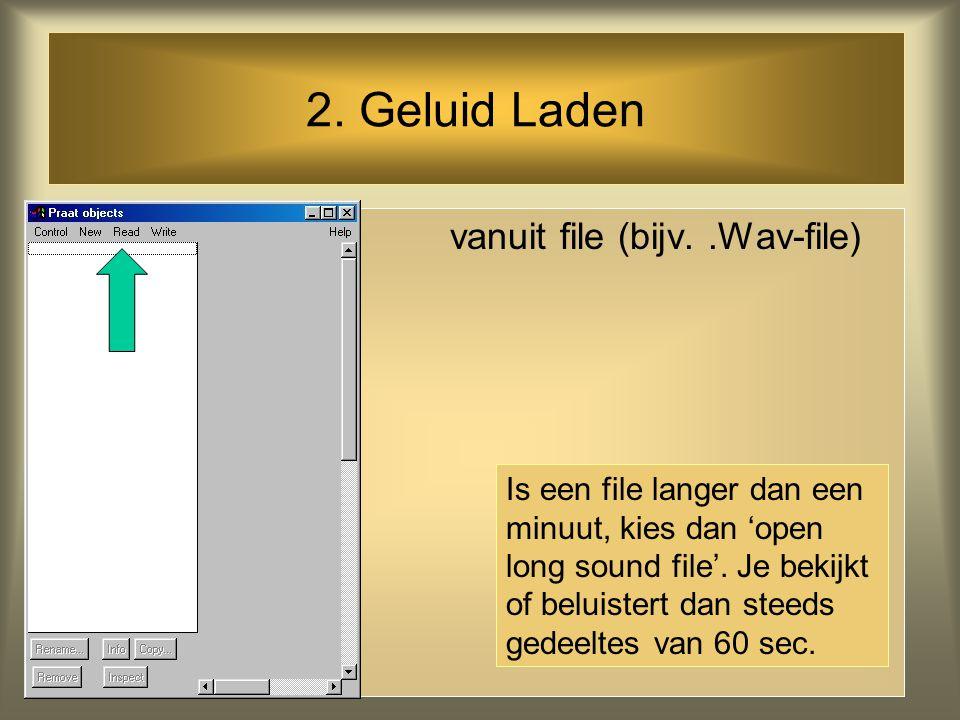 1. Geluid Opnemen via microfoon of audio-CD (of bijv. van internet) NB. Denk aan je Windows Recording Control instelling