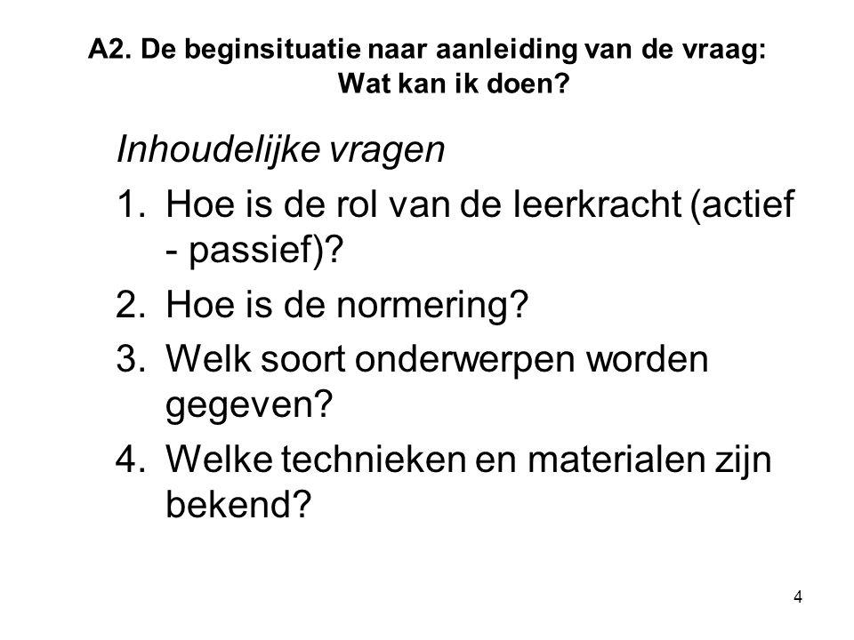 15 Lesopbouw De lesopbouw wordt verdeeld in 'doel' en 'middelen'.