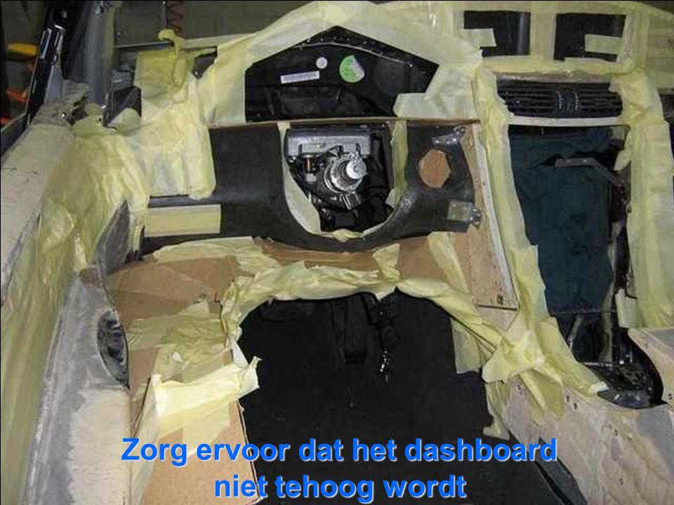 Zorg ervoor dat het dashboard niet tehoog wordt