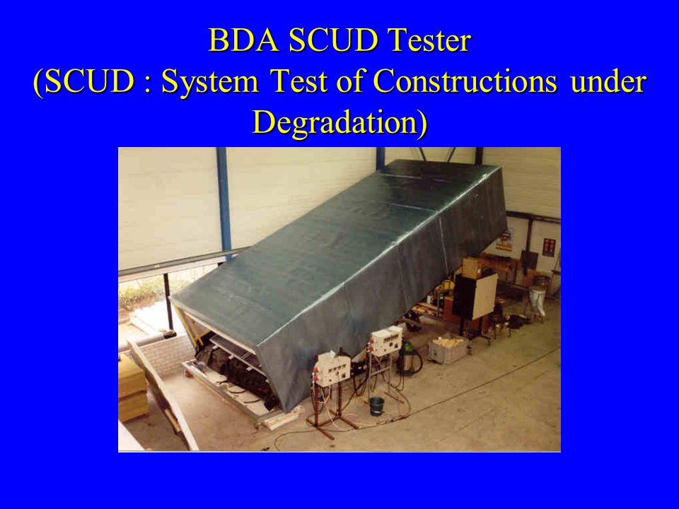 BDA SCUD Tester (SCUD : System Test of Constructions under Degradation)
