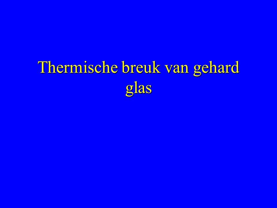 Thermische breuk van gehard glas