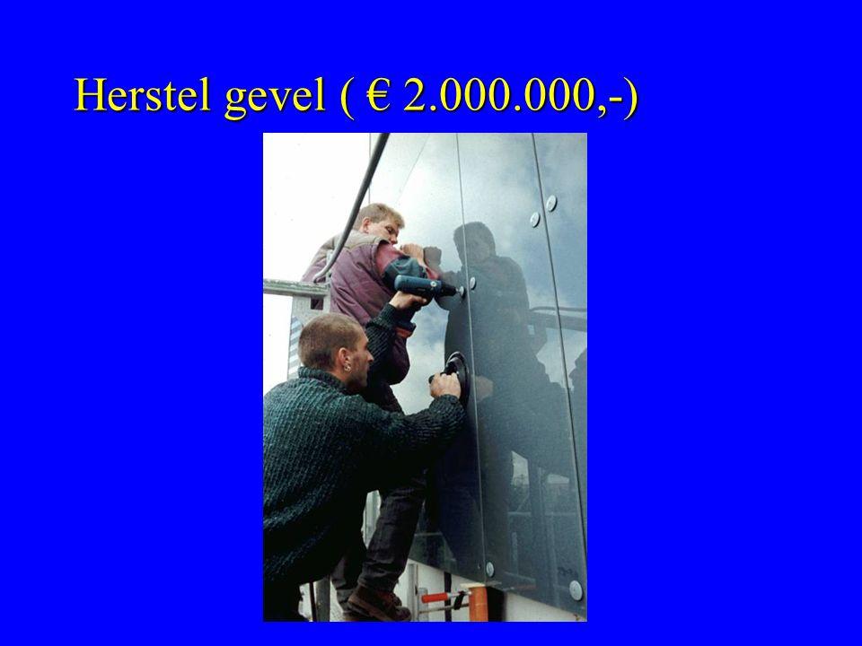 Herstel gevel ( € 2.000.000,-)