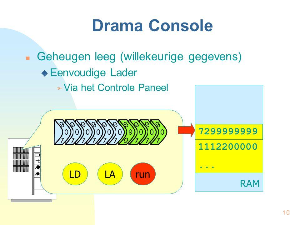 10 Drama Console Geheugen leeg (willekeurige gegevens)  Eenvoudige Lader  Via het Controle Paneel RAM 1112200000...
