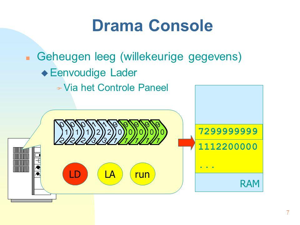 7 Drama Console Geheugen leeg (willekeurige gegevens)  Eenvoudige Lader  Via het Controle Paneel RAM 1112200000...