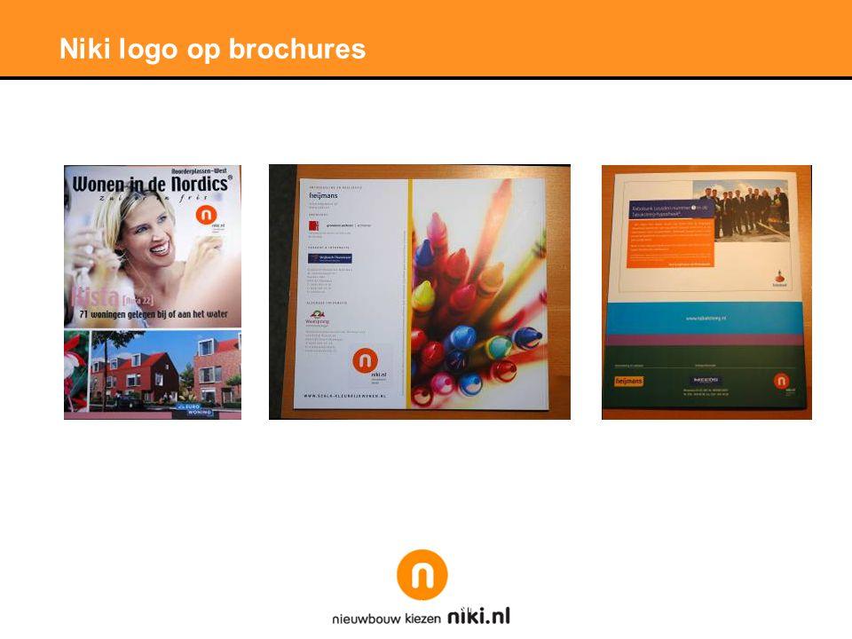 Niki logo op brochures
