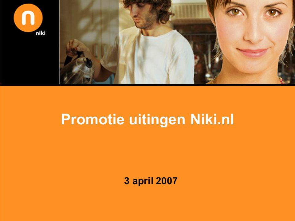 Promotie uitingen Niki.nl 3 april 2007