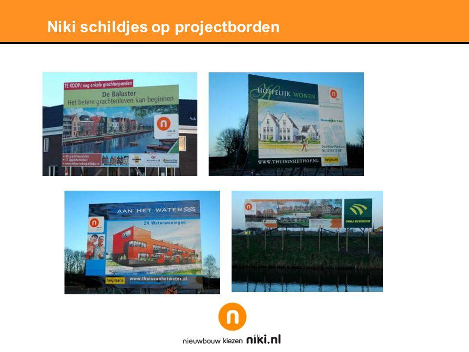 Stichting LNP Niki schildjes op projectborden