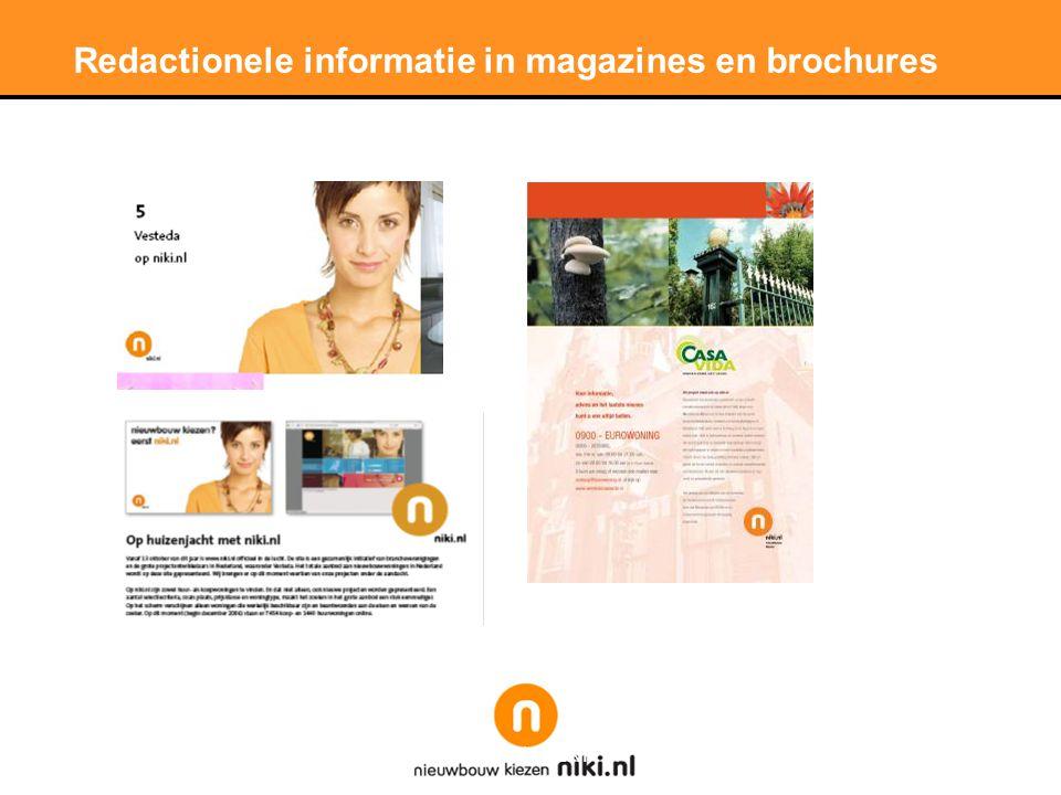 Redactionele informatie in magazines en brochures