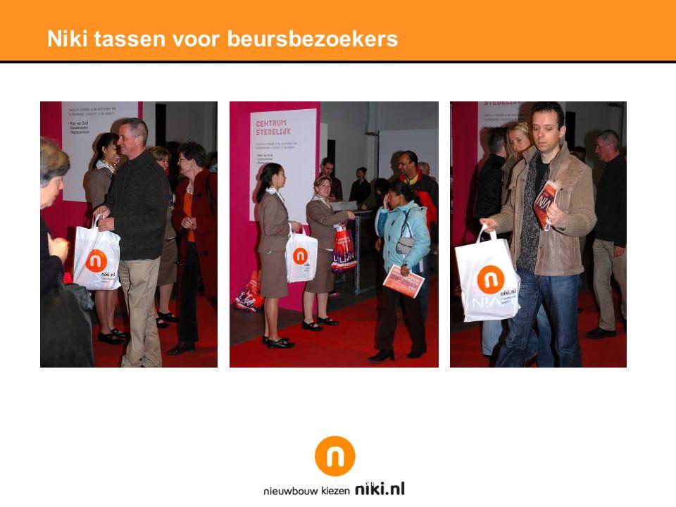Stichting LNP Niki tassen voor beursbezoekers