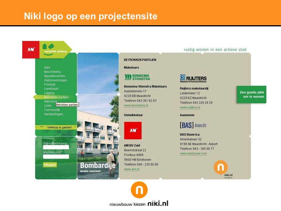 Stichting LNP Niki logo op een projectensite